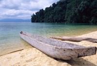 Beached Canoe on Lake Poso, Sulawesi, Indonesia Fine-Art Print