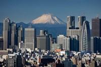 Tokyo, Shinjuku, City Skyline, Mount Fuji, Japan Fine-Art Print