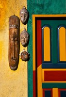Decorated Door with Handcrafted Masks in Ubud, Bali, Indonesia Fine-Art Print