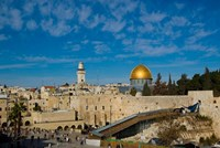 Israel, Jerusalem, Western Wall and Dome of the Rock Fine-Art Print