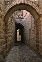 Arch of Jerusalem Stone and Narrow Lane, Israel Fine-Art Print