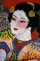 Geisha, Warrior Folk Art, Takamatsu, Shikoku, Japan Fine-Art Print