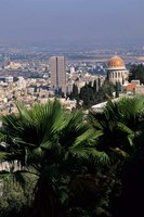 Haifa Cityscape from Bahai Dome, Israel Fine-Art Print