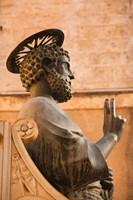 Israel, Galilee, Tiberias, St Peters Parish, Statue Fine-Art Print