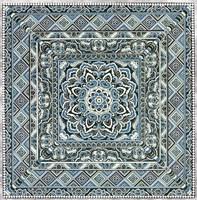 Blue Silver Tile IV Fine-Art Print