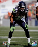 Richard Sherman 2014 ready position Fine-Art Print