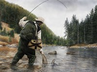 Fishing the Gallatin Fine-Art Print