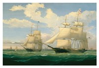 "The Ships ""Winged Arrow"" and ""Southern Cross"" in Boston Harbor, 1853 Fine-Art Print"