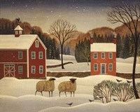 Winter Sheep I Fine-Art Print