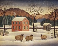Winter Sheep II Fine-Art Print