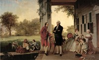 Washington and Lafayette at Mount Vernon, 1784, 1859 Fine-Art Print