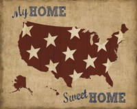 My Home Sweet Home USA Map Fine-Art Print