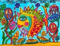 Hippie Puffer Fish Fine-Art Print