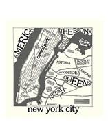 New York Map Fine-Art Print