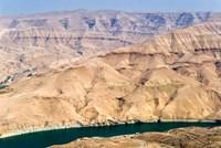Wadi Al Mujib Dam and lake, Jordan Fine-Art Print