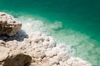 Jordan, Dead Sea, Salt on the sea shore Fine-Art Print