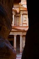 Jordan, Petra, Treasury (Al-Khazneh), Siq, tomb Fine-Art Print