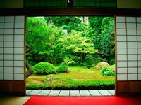 Traditional Architecture and Zen Garden, Kyoto, Japan Fine-Art Print