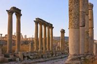 Column street in ancient Jerash ruins, Amman, Jordan Fine-Art Print