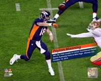 Peyton Manning NFL's All-Time leader Touchdown Passes Fine-Art Print