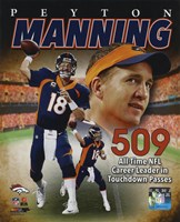 Peyton Manning NFL All-Time leader in career Touchdown Passes 509 Fine-Art Print