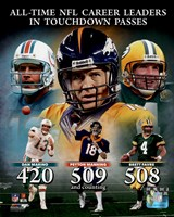 Peyton Manning NFL All-Time leader in career Touchdown Passes Composite Fine-Art Print