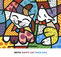 Happy Cat and Snob Dog Fine-Art Print