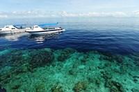 Diving Boat, Sipadan, Semporna Archipelago, Borneo, Malaysia Fine-Art Print
