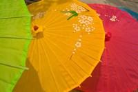 Birghtly Colored Parasols, Bulguksa Temple, Gyeongju, South Korea Fine-Art Print