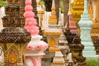Grave Stupas at Wat Si Saket, Vientiane, Laos Fine-Art Print