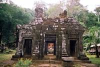 Temple Sanctuary, Wat Phu Khmer Ruins, Champasak, Laos Fine-Art Print