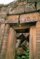 Wat Phu Khmer Palace Doorway, Champasak, Laos Fine-Art Print