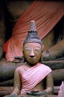 Buddha in Sanctuary, Wat Phu Khmer, Champasak, Laos Fine-Art Print