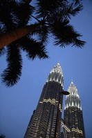 Malaysia, Petronas Twin Towers, Modern buildings Fine-Art Print