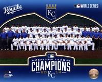 Kansas City Royals 2014 American League Champions Team Sit Down Fine-Art Print