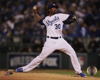 Yordano Ventura Game 6 of the 2014 World Series Action Fine-Art Print