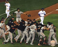 The San Fran Giants celebrate winning Game 7 2014 World Series Fine-Art Print