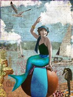 Beach Mermaid Fine-Art Print