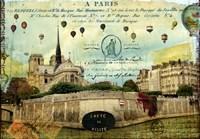 Notre Dame Balloons Fine-Art Print
