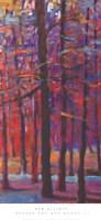 Orange and Red Woods III Framed Print