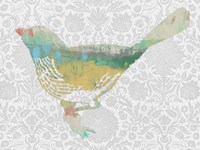 Patterned Bird I Fine-Art Print