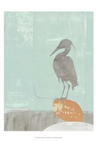 Heron Collage I Fine-Art Print
