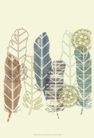 Feathers in a Row II Fine-Art Print