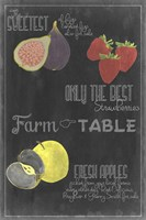 Blackboard Fruit III Fine-Art Print