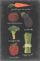 Blackboard Veggies I Fine-Art Print