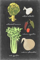 Blackboard Veggies II Fine-Art Print