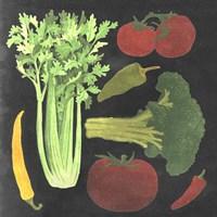 Blackboard Veggies III Fine-Art Print