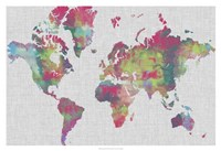 Impasto Map of the World Fine-Art Print