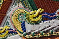 Decorative dragon, Wat Pho, Bangkok, Thailand Fine-Art Print