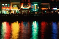 Popular night spot at Boat Quay. Fine-Art Print